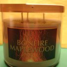 Bath & Body Works Bonfire Maplewood Candle 65hr 3 Wick Large