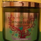Bath & Body Works Aromatherapy Vanilla Verbena Large 3 Wick Candle