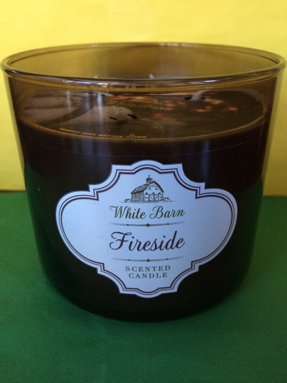 bath and body works fireside large 3 wick candle. Black Bedroom Furniture Sets. Home Design Ideas