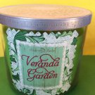 Bath & Body Works Veranda Garden 3 Wick Candle Large