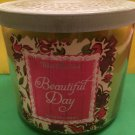 Bath and Body Works Beautiful Day 3 Wick Candle Large