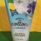 Bath & Body Works Sheer Cotton and Lemonade Body Scrub Large Full Size