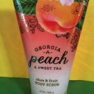 Bath and Body Works Georgia Peach and Sweet Tea Body Scrub Large Full Size