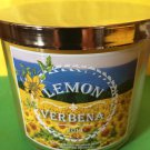 Bath and Body Works Lemon Verbena 3 Wick Candle Large