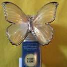Bath and Body Works Pearl & Silver Butterfly Night Light Wallflower Unit