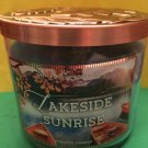 Bath & Body Works Lakeside Sunrise Candle Large 3 Wick