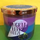 Bath and Body Works Poptails Sangria Berry Freeze Candle Large 3 Wick