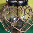 Bath and Body Works Nautical Rope and Glass Globe Luminary Candle Holder Large