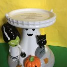 Bath and Body Works Halloween Ghost, Cat Pumpkin Pedestal Candle Holder Ex Large