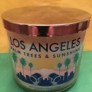 Bath & Body Works Los Angeles White Palm Trees Candle 3 Wick Large