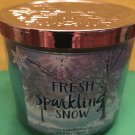 Bath & Body Works Sparkling Snow 3 Wick Candle Large