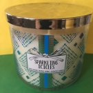 Bath & Body Works Sparkling Icicles 3 Wick Candle Large