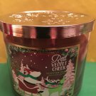 Bath and Body Works Red Velvet Cheer 3 Wick Candle Large