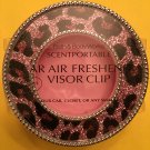 Bath & Body Works Light Pink and Black Cheetah Scentportable Car Visor Clip