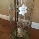 Bath and Body Works Tall Star Snowflake Glass and Metal Luminary Candle Holder