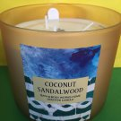 Bath & Body Works Coconut Sandalwood 3 Wick Candle Large
