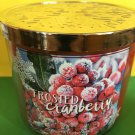 Bath & Body Works Frosted Cranberry Large 3 Wick Candle