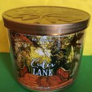 Bath and Body Works Cider Lane 3 Wick Candle Large