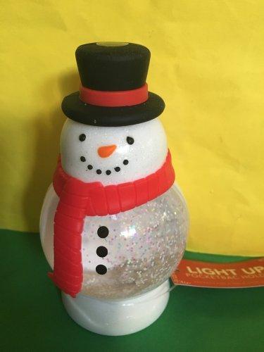 Bath and Body Works Light up Snowman Snowglobe Pocketbac Holder