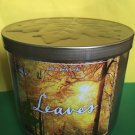 Bath & Body Works Leaves 3 Wick Candle Large