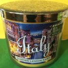 Bath and Body Works Sparkle Lid Italy Tuscan Lemon Tart 3 Wick Candle Large