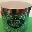 Bath and Body Works Merry Mistletoe Candle Large Full Size 3 Wick