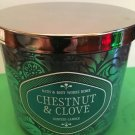 Bath & Body Works Home Chestnut and Clove 3 Wick Candle Large
