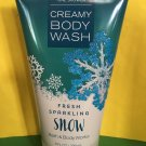 Bath and Body Works Fresh Sparkling Snow Creamy Body Wash Large Full Size