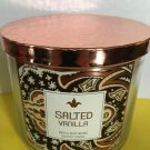 Bath & Body Works Salted Vanilla 3 Wick Candle Large