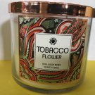 Bath & Body Works Tobacco Flower 3 Wick Candle Large