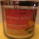 Bath & Body Works Aromatherapy Eucalyptus Tangerine 3 Wick Candle Large