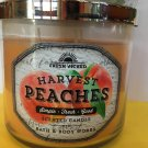 Bath & Body Works Harvest Peaches 3 Wick Cande Large