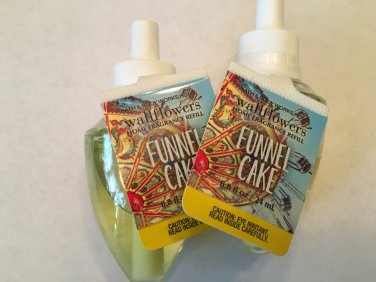 Bath & Body Works 2 Funnel Cake Wallflower Refill Bulbs