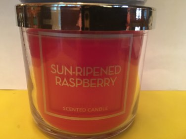 Bath and Body Works Sun Ripened Raspberry Single Wick 4 oz Candle