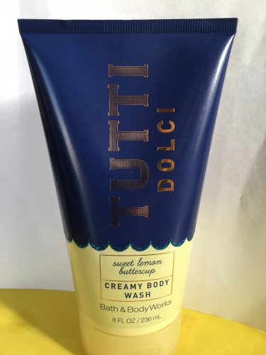 Bath and Body Works Tutti Dolci Sweet Lemon Buttercup Creamy Body Wash Large Full Size 8 oz