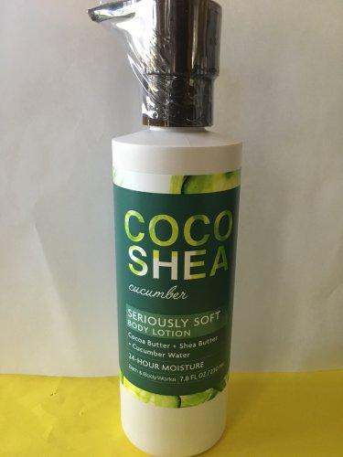 Bath & Body Works Coco Shea Cucumber Lotion Large 7.8 oz