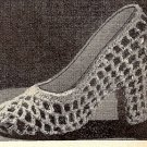 Crocheted Shoe Favor Pattern Vintage 723012
