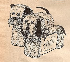 Cat and Dog Washcloth Pattern Vintage 72202