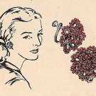 Flower Earrings Beaded Tatting Vintage Pattern 729002