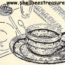 Tea Cup - Nut Cup Crochet Pattern-1949 Vintage 723015