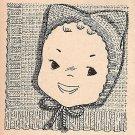 Knitted - Kitten - Baby Cap Pattern 1949 Vintage - 726021
