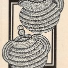 Sugar Bowl and Creamer Panholders Pattern Crochet Vintage 723004