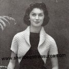 A Simple Knitted Shrug Pattern - Vintage - 1950s - 726002