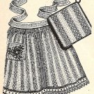 Aprons-Pan Holders from Dish Cloths Pattern with Crochet-Vintage 723030