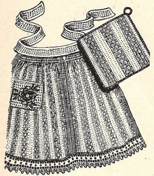 Daisy Apron - Christmas Crafts, Free Knitting Patterns, Free