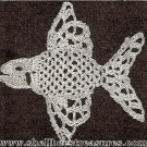 Crocheted Fish Applique - 1950 - Vintage - 723029