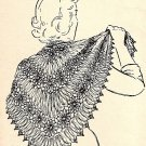 Daisy Shawl Crocheted Pattern 1949 Vintage 723022