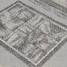 Double Nine-Patch Knitted Rug Pattern Vintage 726020