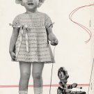 Toddler's Crocheted Dress-Sz 2 to 3 Vintage Pattern 723034