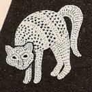 Cat Applique Crocheted - 1948 - Vintage 723009